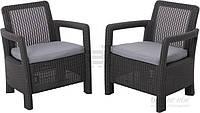 Садовая мебель пластиковая (2 больших кресла )