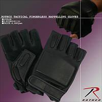 Тактические перчатки кожаные без пальцев Rothco Tactical Fingerless Rappelling Gloves, фото 1
