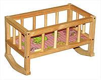 Кроватка деревянная с постелью арт. 004/1