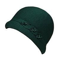 """Шляпа """"Монро"""" цвет изумруд"""