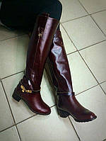 Сапоги кожаные, сезон на выбор осень или зима