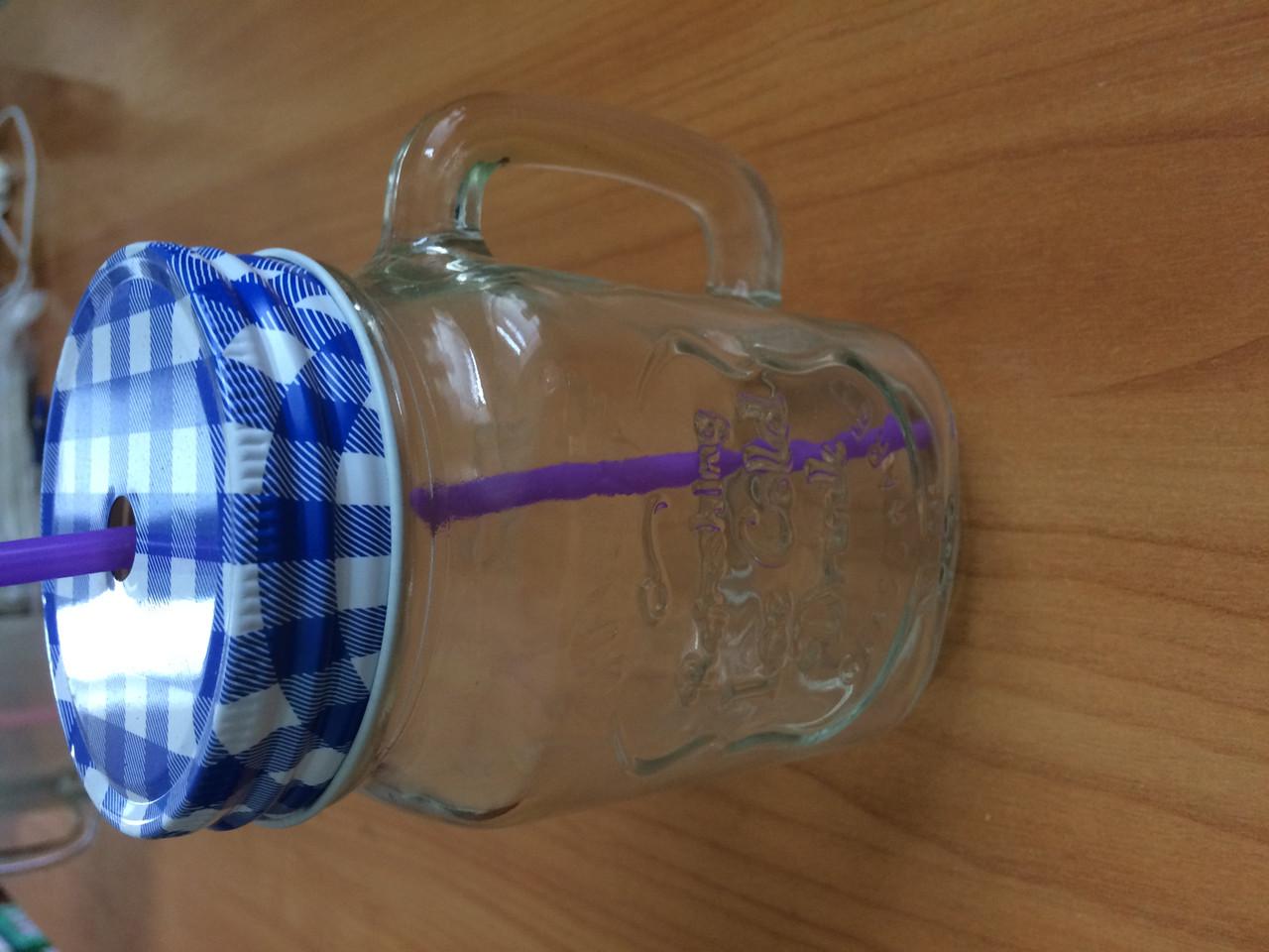 """Чашка стеклянная с крышкой и трубочкой 450мл  - ЧП """"МАКОШ-ПАК"""" в Одессе"""