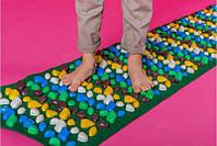 Коврик-дорожка массажный с цветными камнями 200x40 см детский развивающийOnhillsport (MS-1269)