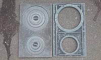 Плита чугунная двухкомфорочная 585*350 мм УСИЛЕННАЯ, фото 1