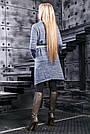 Синий женский кардиган,  размеры от  42 до 52, трёхнитка, фото 4