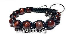 Кожаный браслет из Бычьего глаза shamballa