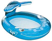 Детский надувной бассейн Intex 57435 – «Весёлый кит»