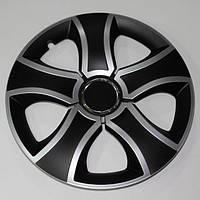 Колпаки колеса декоративные R13 BIS RING MIX  черно-серые с кольцом