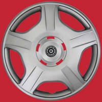Колпаки колеса декоративные R13 FOX RING  серые с кольцом