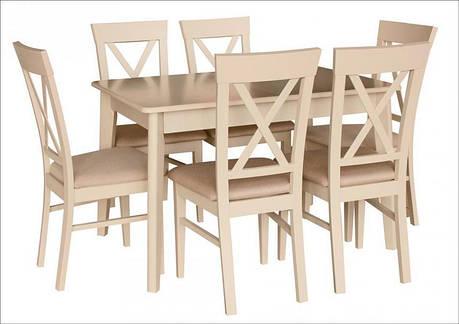 Обеденный стол в скандинавском стиле Лекс Fn (Стол Артур), латте, фото 2