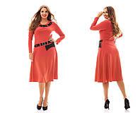Женское модное платье MIDI больших размеров №944 (р. 48-62)