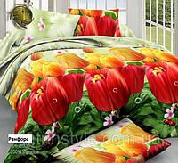 """Комплект постельного белья """"Тюльпаны"""" семейный размер"""