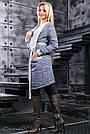 Синий женский кардиган,  размеры от  42 до 52, трёхнитка, фото 3