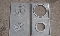 Плита чугунная двухкомфорочная 750*450 мм УСИЛЕННАЯ