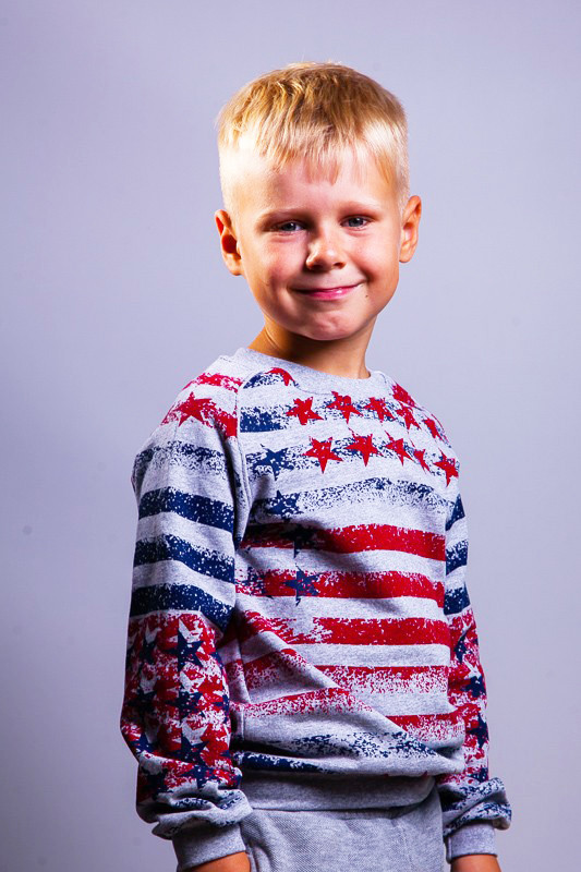 Реглан с начесом для мальчика Америка