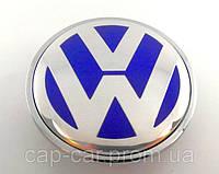 """Колпачки заглушки для литых дисков Volkswagen """"BLUE"""" 3B7601171 (65мм)"""