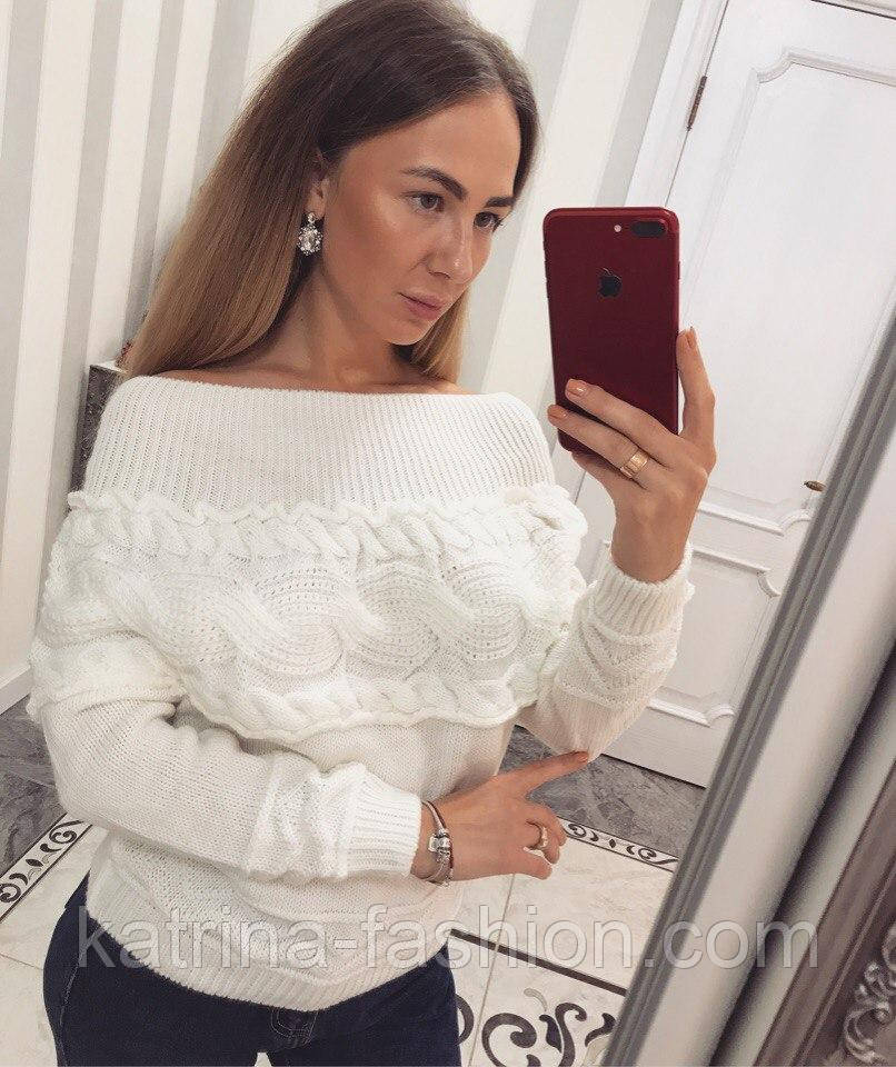 """Женский любимый свитер """"Коса"""" (4 цвета)"""