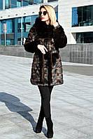 Шуба искусственная норковая средняя Норка поперечная без утеплителя №1, норковая шуба коричневая