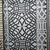 Ковер безворсовый, серый орнамент 2.00х3.00