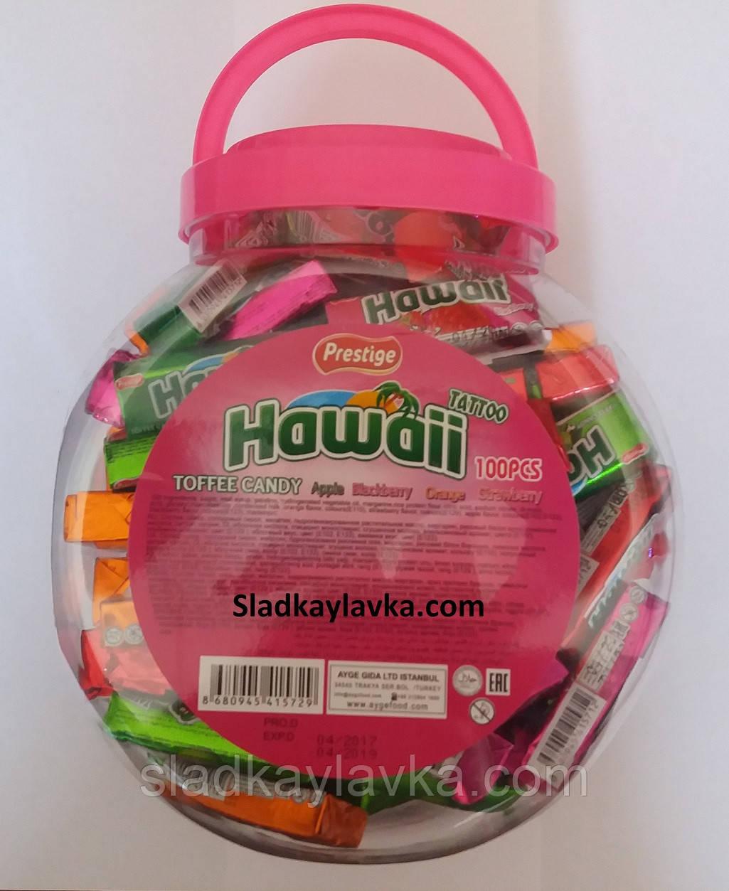 Жевательная конфета Hawaii Toffee Candy Tattoo 100 шт (Prestige)