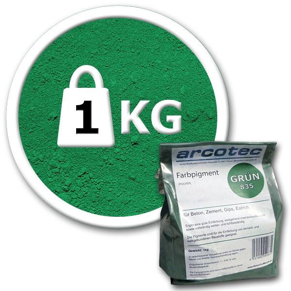 Пигмент для бетона Arcotec зеленый 1 кг