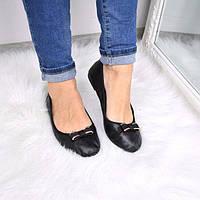 Туфли балетки женские Mandy черные 3591