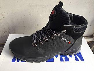 Подростковые зимние кожаные ботинки Columbia (реплика)