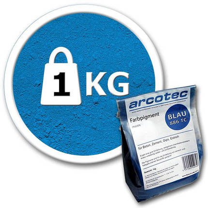 Пигмент для бетона Arcotec синий 1 кг, фото 2