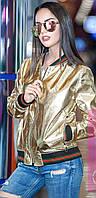 Женская короткая куртка из ткани Лаке