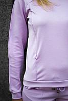 Трикотажний спортивний костюм -Світло-ліловий