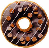 """3D Подушка """"Пончик шоколадный с хлопьями"""", ø 37 см."""