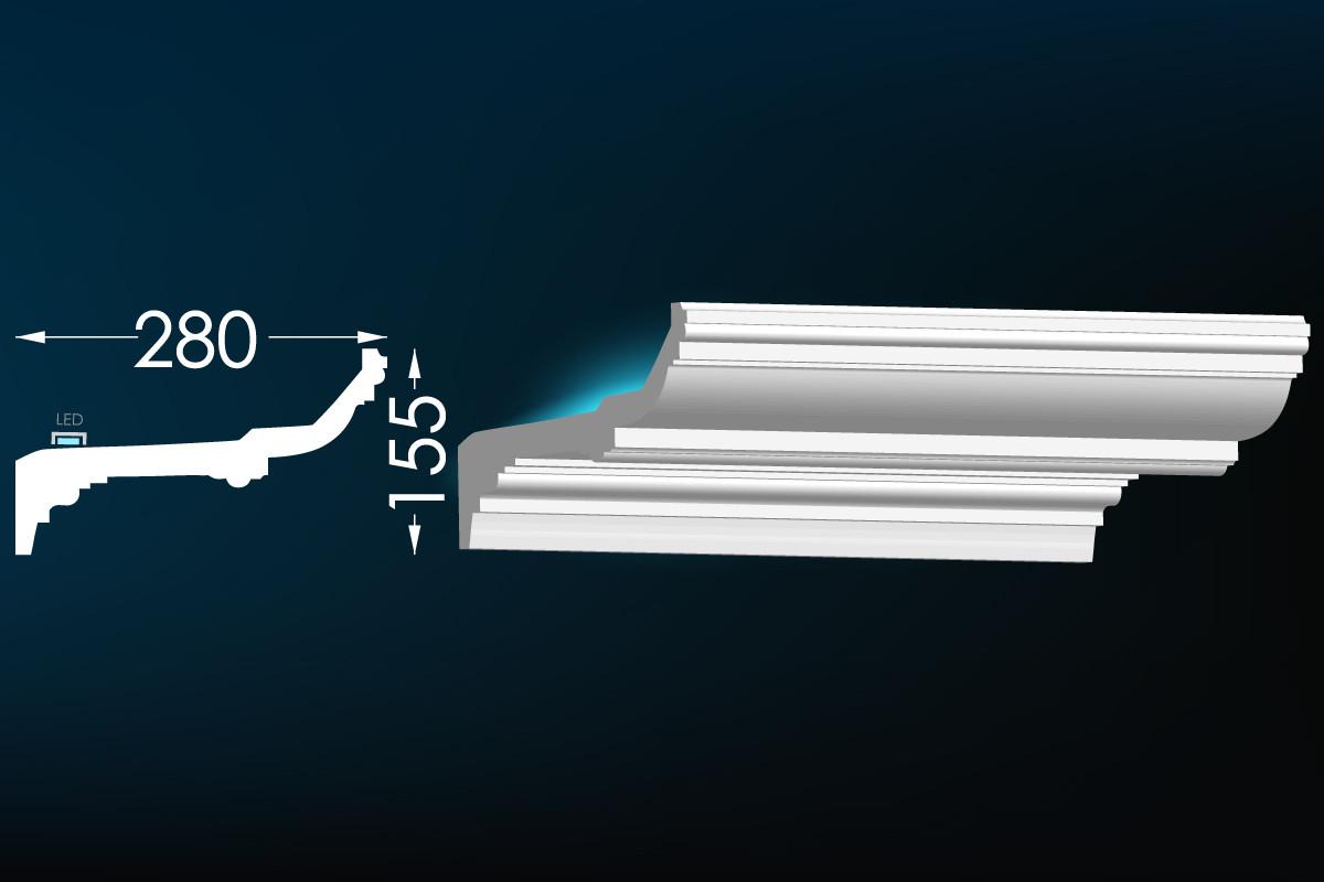 Гипсовый карниз для скрытого освещения Тс-43 (Т-163)