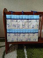 Карманы на детскую кроватку (зайчики) 60смх50см