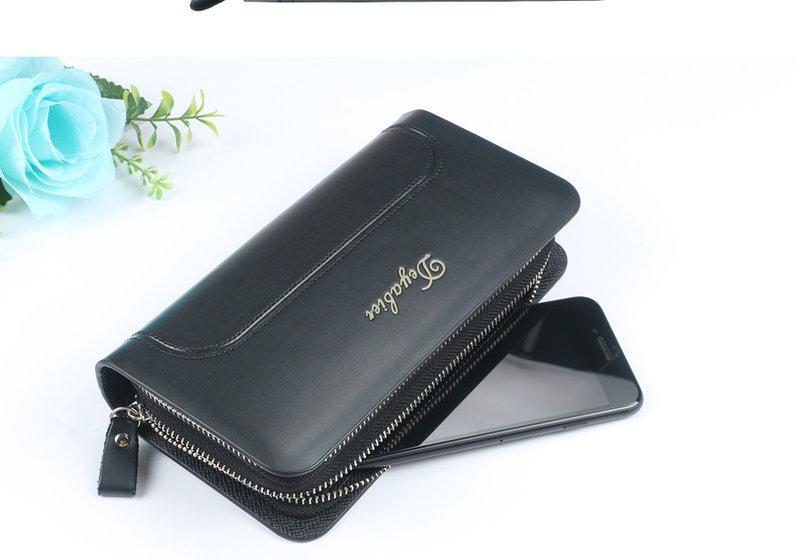 Бумажник на две молнии. Стильный мужской кошелек. Мужская барсетка ... 9573b7f2e57
