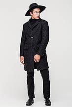 Стильное мужское пальто черное шерсть