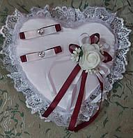 Свадебная подушка под кольца № 1-борд