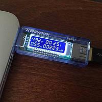 Зарядное USB тестер проверка измерение емкость АКБ повербанка павербанка Powerbank напряжение ток