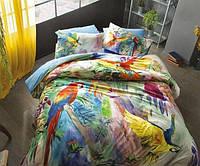 Двуспальное евро постельное белье TAC Tropicana Бамбук