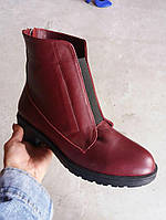 Демисезонные ботинки на резинке натуральная кожа