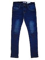 Джинсовые брюки для девочек на флисе, размеры Seagull 134,140, , арт. 89907