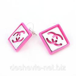 Серьги женские 016SRs-pink купить сережки дешево Украина