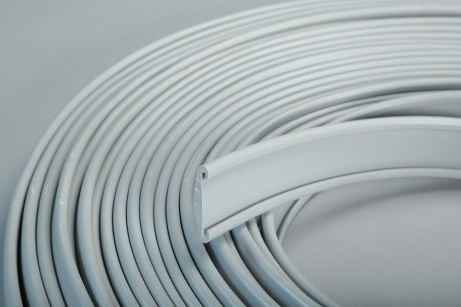 ПВХ поручень для перил 30*4мм серый