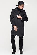 Стильное мужское пальто серое длинное