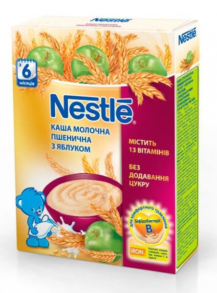 Молочная каша Nestle Пшеничная с яблоком, 200 г
