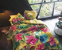Двуспальное евро постельное белье TAC Lemon Бамбук