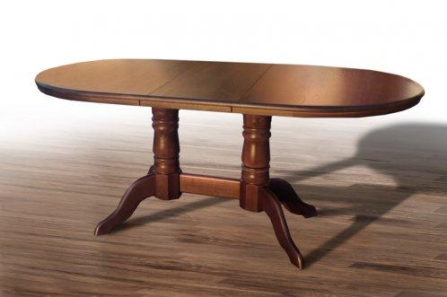 Стол обеденный Наполеон, дерево дуб, цвет орех темный