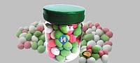 Рекламный арахис в пластиковой банке с логотиплм