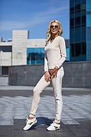 Женский стильный спортивный костюм с белыми лампасами