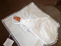Зимний костюм для крещения ребенка. Модель  Elegant 2