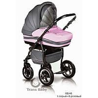 Универсальная коляска 2 в 1 Trans baby Mars, розовая